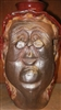 "Traditions Pottery Mrs.  CLAUS FACE JUG by Michael Calhoun. Wheel thrown, wood fired, hand sculpted. 10 to 12"" tall. Pre order, Ugly Jug, Collectors, Great for Christmas Mrs. St Nick.   Lady Santa"