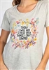Natural Life  tee shirt reads Today I will not stress over things I can not control. Raglan sleeve, scoop neck.