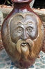 "Traditions Pottery CLAY SPIRIT Face jug  by Michael Calhoun. Wheel thrown, wood fired, hand sculpted. 8 to 9""  tall , Pre order, Ugly Jug, Collectors, folk art. Folklore"