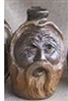"Traditions Pottery WIZARD FACE JUG by Michael Calhoun. Wheel thrown, wood fired, hand sculpted.  3 to 4 "" tall , Pre order, Ugly Jug, Collectors, folkart. Folklore"