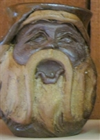 "Traditions Pottery OLD WORLD SANTA CLAUS FACE MUG by Michael Calhoun. Wheel thrown, wood fired, hand sculpted.  5"" tall. Pre order, Ugly Jug, Collectors, Great for Christmas"