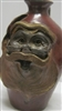 "Traditions Pottery SANTA CLAUS FACE JUG by Michael Calhoun. Wheel thrown, wood fired, hand sculpted.  8 to 9"" tall. Pre order, Ugly Jug, Collectors, Great for Christmas, sANTA WITH GLASSES"