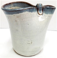 The Pinch Pitcher, handmade by  Ina Bolick of Bolick Pottery. Great as a creamer, or use for melting butter, and/or pancake syrup. Oven, Microwave, and Dishwasher safe.  Great gifts