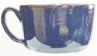 "Handmade Bolick Pottery soup bowl  with handle. App. 5"" across top ad 3"" tall.  Holds 20 ounces. Oven, Dishwasher, and Microwave safe. Great for soup, chili, salads, ice cream, cereal.  NC Heritage Award Winners 2018,"