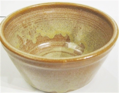 Cereal bowl. Great for soup, cereal, ice cream, salad. Microwave, oven, and dishwasher safe. Made by Janet Calhoun of Traditions Pottery, No handle, stores nicely.