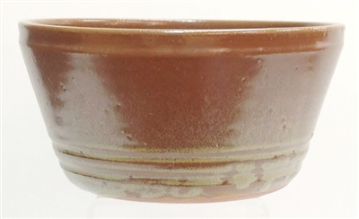 Cereal bowl. Great for soup, cereal, ice cream, salad. Microwave, oven, and dishwasher safe. Made by Janet Calhoun of Traditions Pottery, stacks nicely in cabinet. Has double lines along bottom