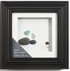 "Demdaco Pebble art Sharon Nowlan with sea glass. Once upon a pebble.   Can hang or sit with back easel. Measures 6"" square.  Framed. Mother and Child"