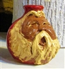 "Traditions Pottery Handmade Miniature  face jug by Michael Calhoun of Blowing Rock NC.  Clay Spirit jug with lots of hair and beard. 3  to 5"" tall.  Small jug."