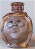 Traditions Pottery Handmade Mrs Claus face jug by Michael Calhoun of Blowing Rock, NC. Wheel Thrown and hand built. Pre order now for March or October wood kiln firing.