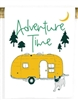 ​Flour sack cotton towel. Yellow camper, dog, trees, and the moon. Reads Adventure time. Family made in Seattle, WA. Hook for hanging. Pre shrunk.30 x 30. Made in the USA. Not on Amazon