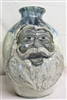 "Traditions Pottery Santa Claus Jug by Michael Calhoun Wheel thrown,  hand sculpted.  10-12"" tall. Pre order, Ugly Jug, Collectors, Great for Christmas, face jug collectors desire this Santa"